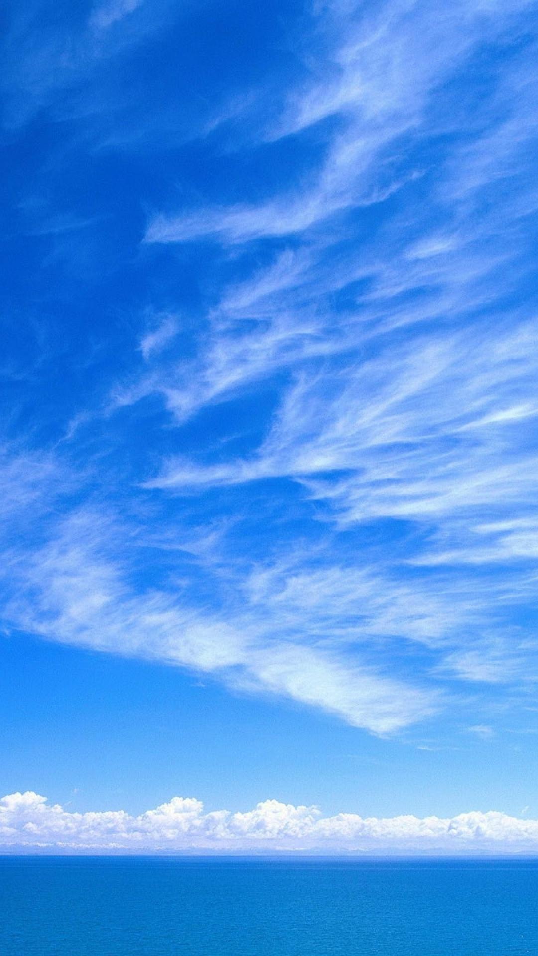 Sky Wallpaper sky blue white clouds tenderness 4937 ...