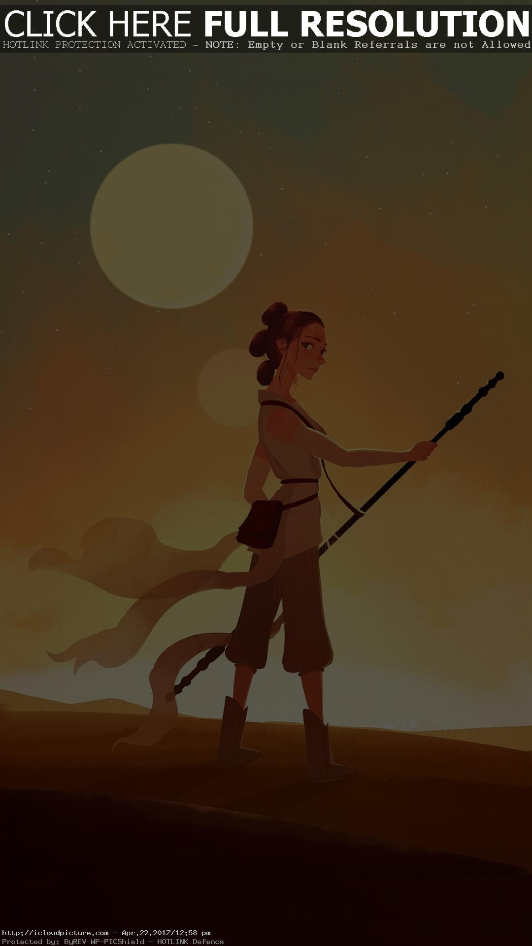 Star Wars Wallpapers Rey Star Wars Iphone Wallpaper Cartoon