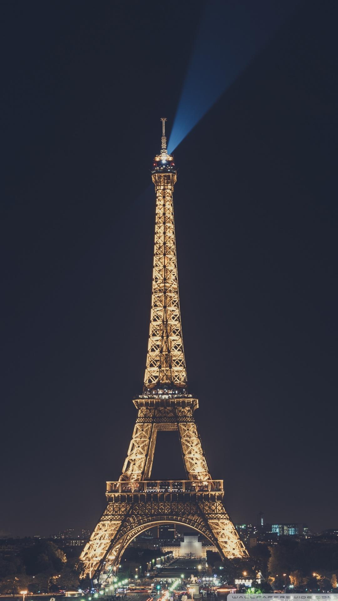 Wallpaper images eiffel tower at night paris france wallpaper 1080x1920 supportive guru - Paris tower live wallpaper ...