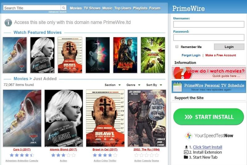 For those who want to experience a premium movie watching experience in a  free movie streaming website, PrimeWire is the best watch free movies  online site.
