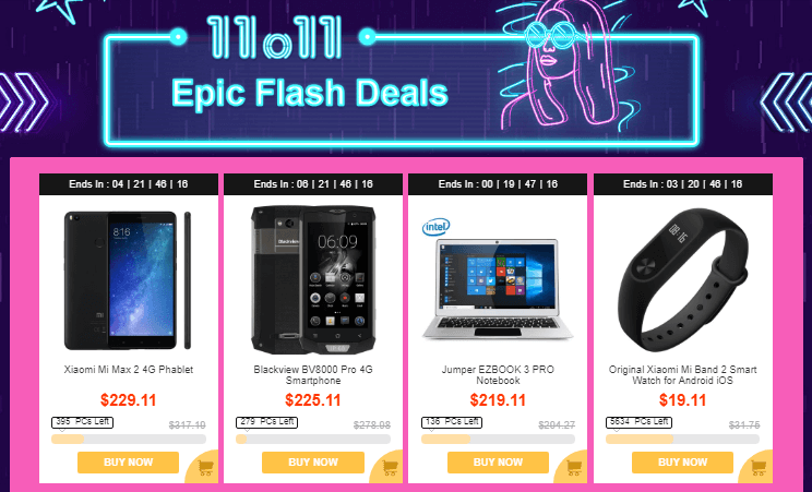Epic flash deals