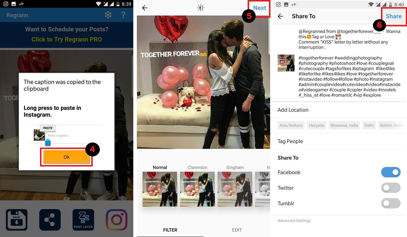 how to add watermark to photos on instagram
