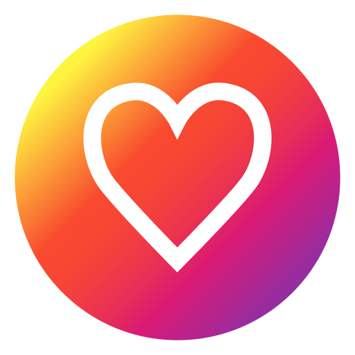 Instagram heart icon png