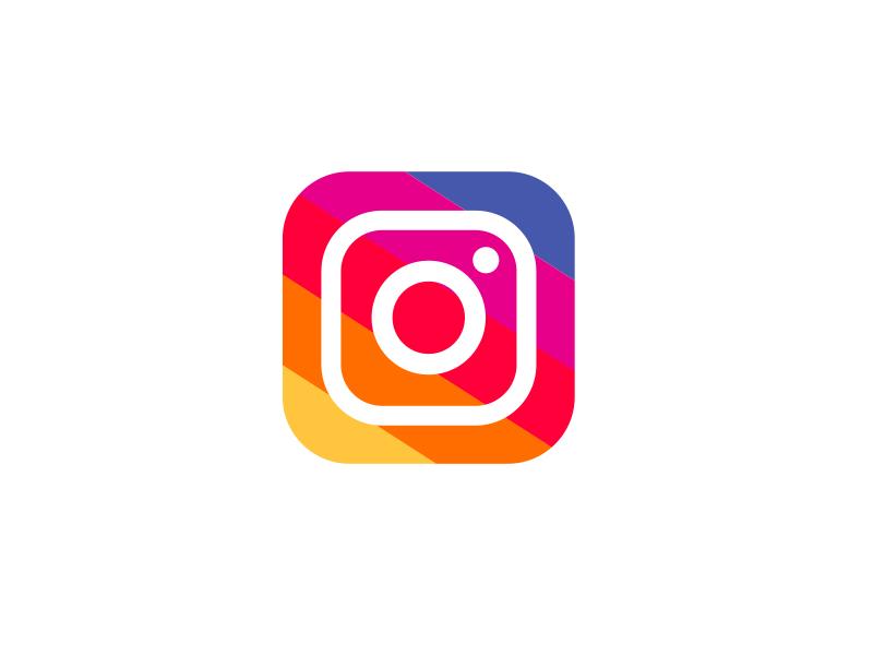 Instagram new logo. Icon gif transparent
