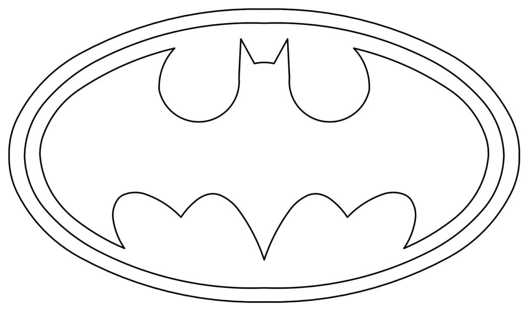 Batman Logo Coloring Page Supportive Guru
