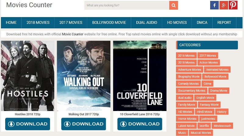 Download Movies Top 15 Free Movies Downloading Sites 2018