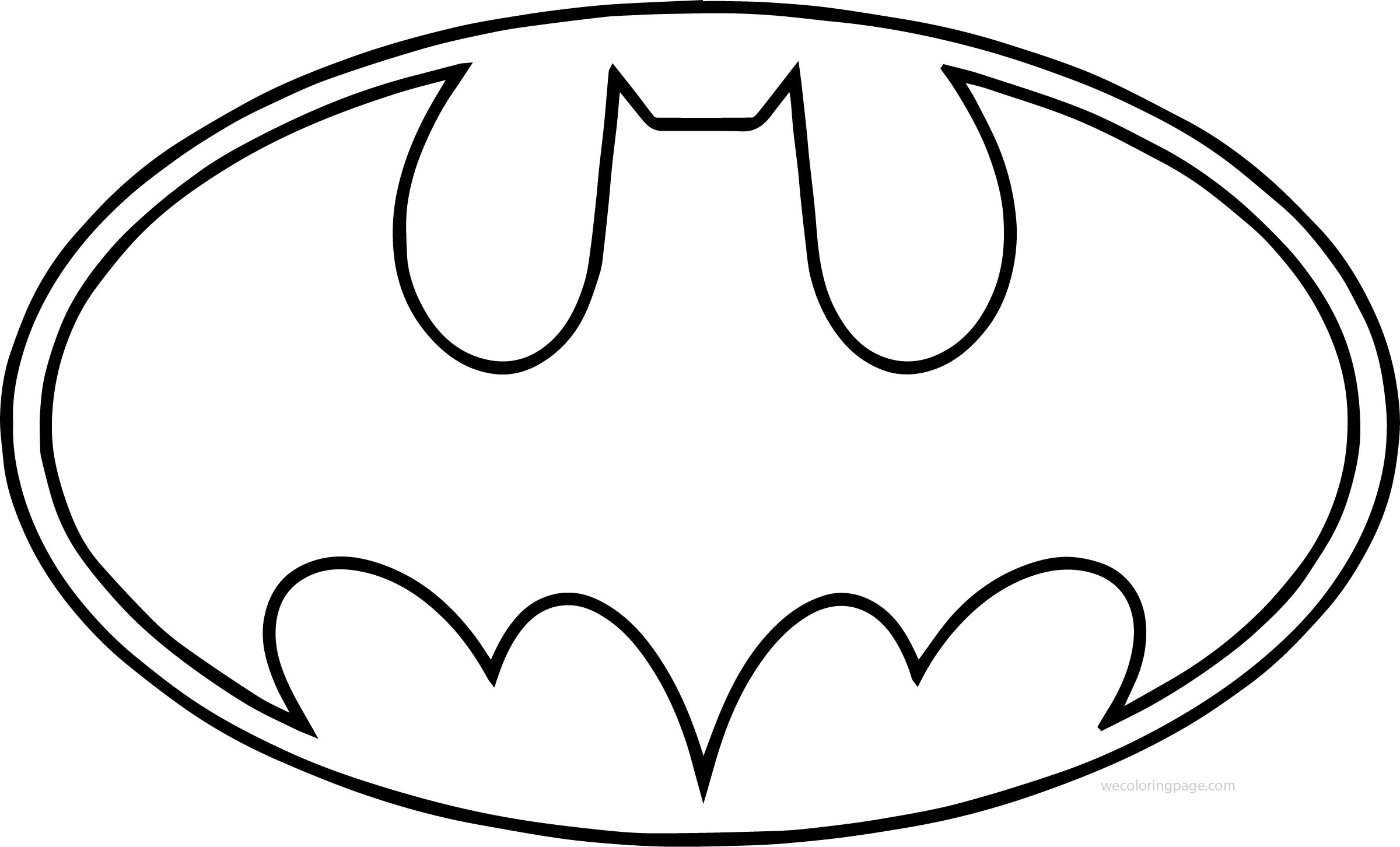 Outline Batman Logo Coloring Page Supportive Guru