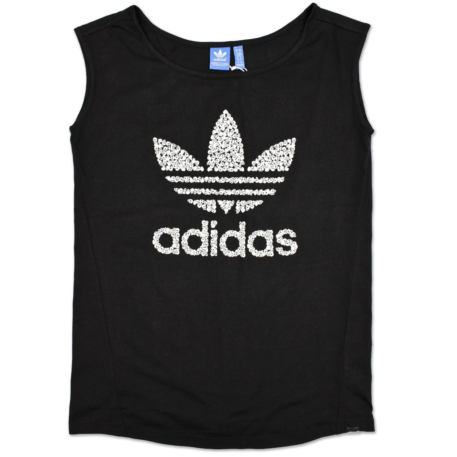 Adidas Originals Skulls Logo Tee Shirt F78197 Black