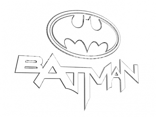 Batman Cartoon Coloring Pages 1055 Batman Logo Coloring