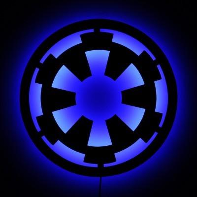 Gallery Hero Lighted Imperial Star Wars Logo Wall Art