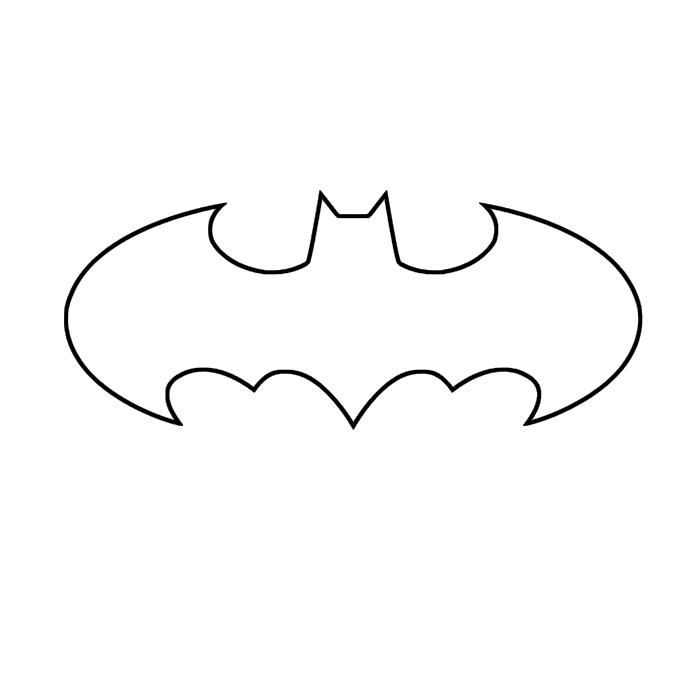 Small Batman Logo Template 10374 Supportive Guru