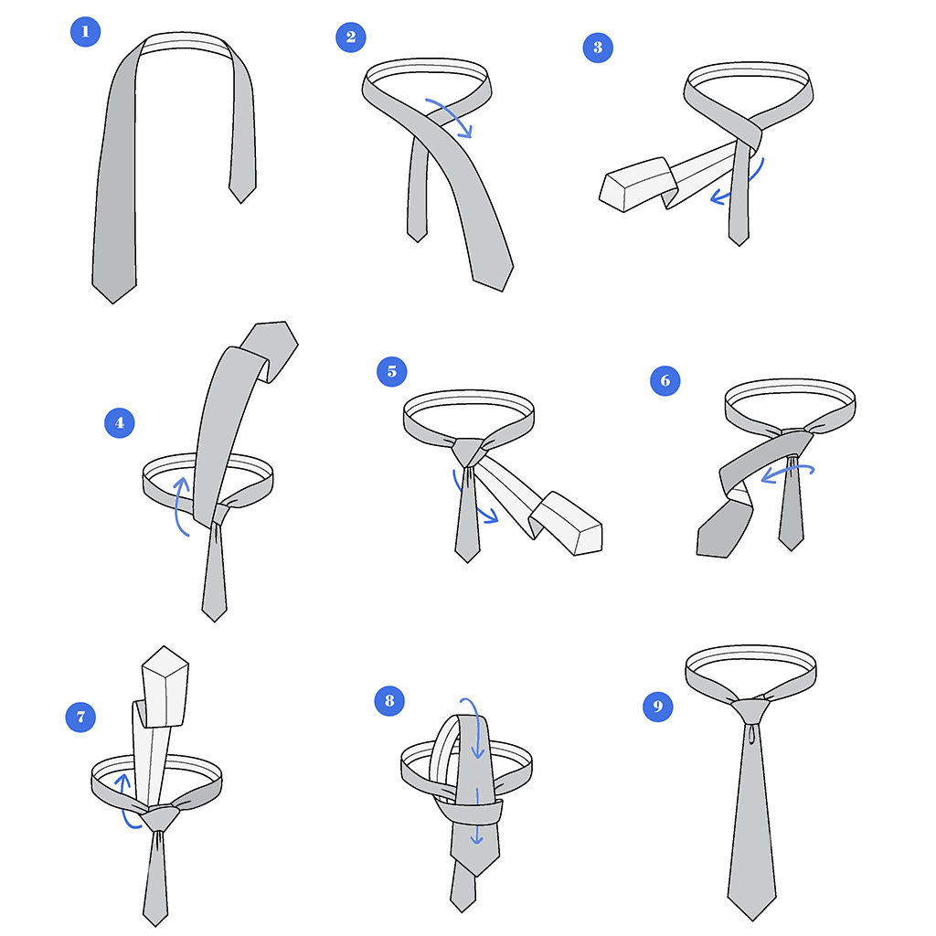 how to tie a tie    step