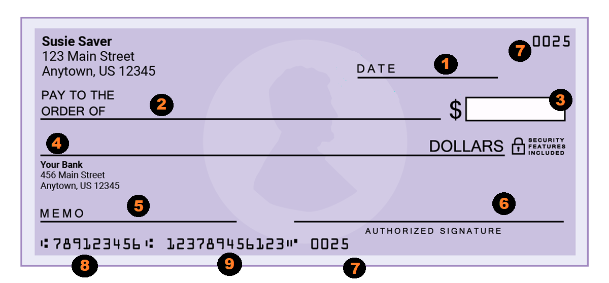 writing a check format