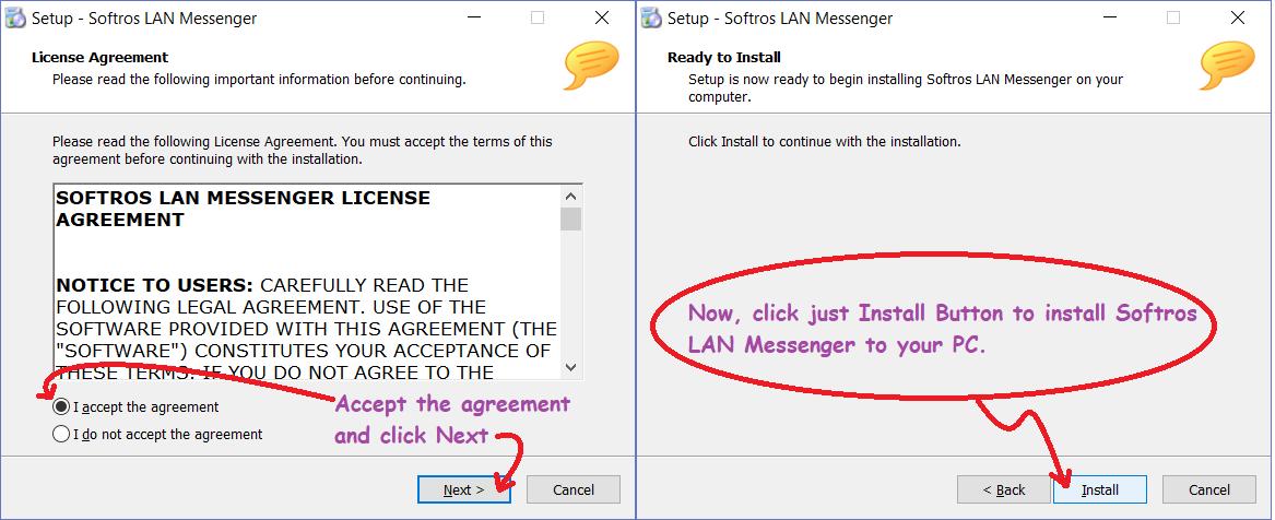 Installing Softros LAN Messenger