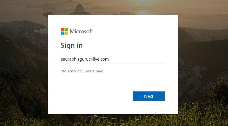 Microsoft outlook Login