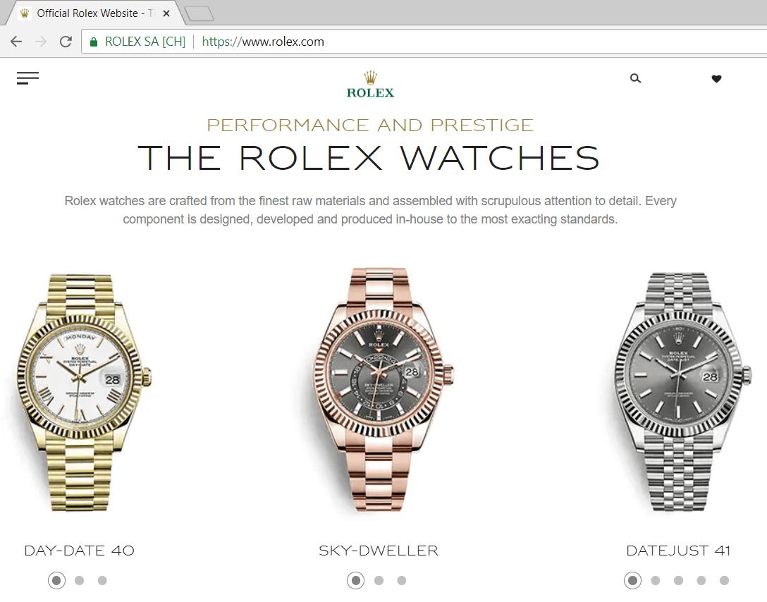 Rolex Official Website