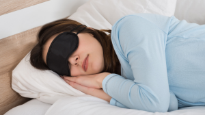 Women Sleeping with Blindfold
