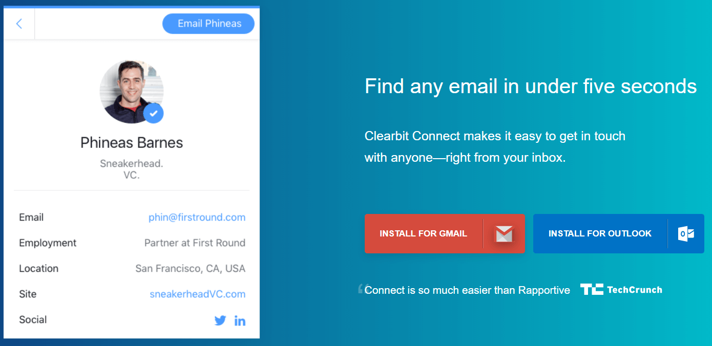 Install Clearbit Connect