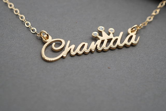 name necklace wedding