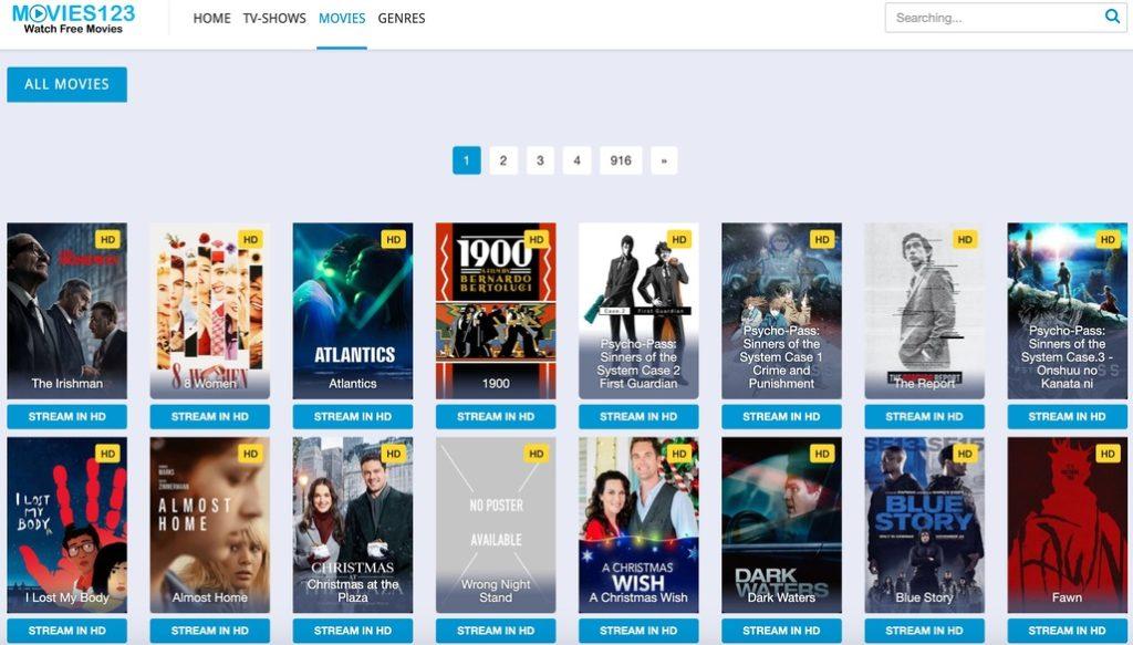 123 Movies - Putlocker Alternative Free Movie Site