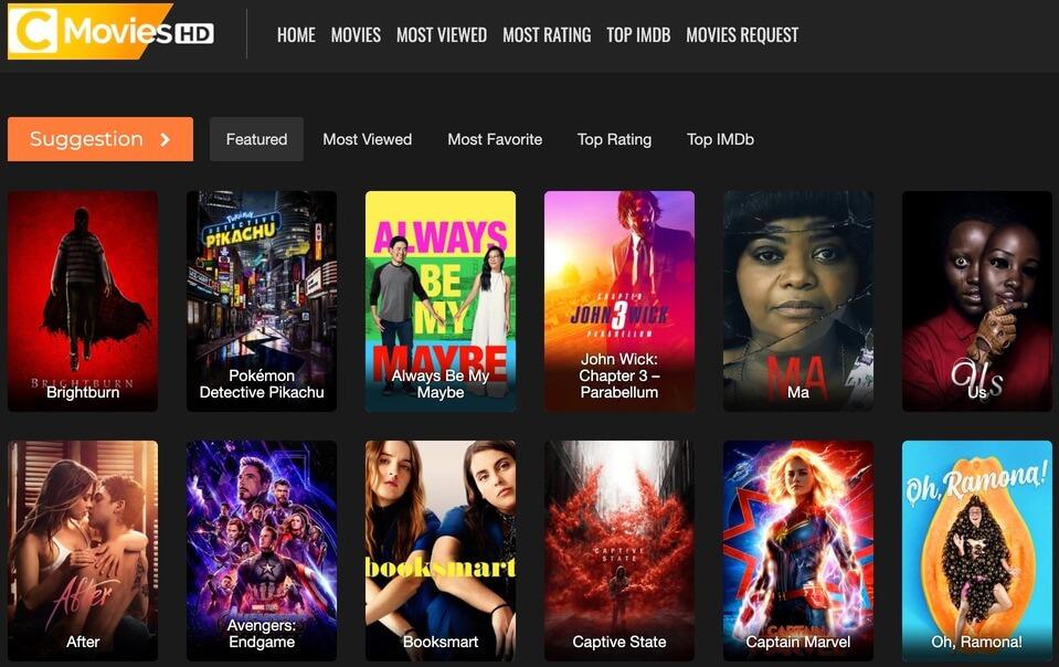 cMoviesHD - Putlocker Alternative Free Movie Site